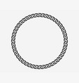 texture chain round frame circle border chains vector image vector image