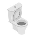 Toilet bowl on white background WS accessories vector image vector image