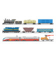 train railway transport locomotive or wagon vector image vector image