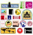 travel label set vector image vector image