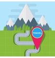 travel map point vector image vector image