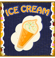 Vintage background with the image of ice cream vector image