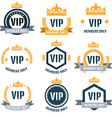 VIP Club members only logo set vector image