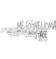 what are the four stages of mesothelioma cancer vector image vector image
