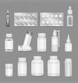 white blank medicine pharmaceutical packaging vector image vector image