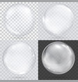 white transparent glass sphere on a checkered vector image vector image