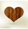 Wooden structure in the form of heart EPS 8 vector image