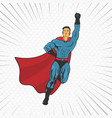 action super hero fly vector image