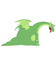 Cartoon dragon vector image