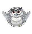 a grey owl banner vector image vector image