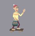 a man rides on a skateboard vector image vector image