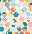 Abstract Retro Geometric hexagonal pattern vector image vector image