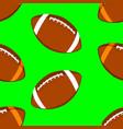 american football ball seamless pattern vector image vector image