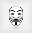 anonymous mask on white background vector image vector image
