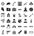 antiterrorist help icons set simple style vector image vector image