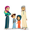 arab family in traditional clothing vector image vector image