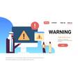 arabic businessman problem solution warning danger vector image