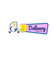 asian fast food delivery sticker vector image vector image
