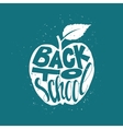 Back to school poster with apple vector image vector image