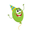 balloon character with smiling human face in vector image vector image