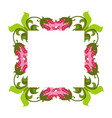 beautiful wreath elegant floral frame hand drawn vector image vector image
