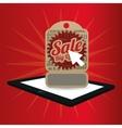 big offer sale online technology red background vector image