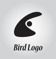 bird logo minimalist design abstract logotype vector image