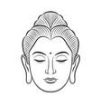 buddha head line art isolated vector image vector image