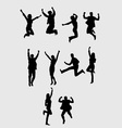 Business Jumping Silhouette art design vector image