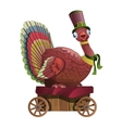 Circus bird riding in a cart vector image vector image