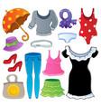 clothes theme collection 2 vector image