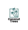 coconut tree palm logo icon vector image vector image