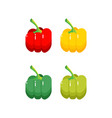 collection of colored sweet bulgarian bell peppers vector image