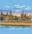 colorful hand drawing moscow-4 vector image vector image