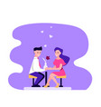 couple man and woman in a restaurant vector image