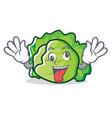 crazy lettuce character mascot style vector image vector image