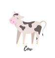 cute cow kid isolated domestic calf vector image vector image