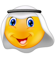Emoticon smiley with Arabic dress vector image vector image