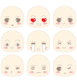 Emotion Chibi Face vector image vector image