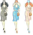 Fashion girls top models vector image vector image