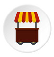fast food cart icon circle vector image vector image