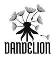 field dandelion logo icon simple style vector image