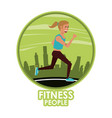 fitness woman running vector image vector image