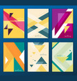 flat geometric covers design colorful modernism vector image
