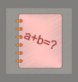 flat shading style icon math book vector image vector image