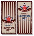 flyer set for memorial day vector image vector image