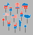 foam sign president election of america set photo vector image vector image