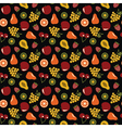 Fruits seamless background vector image vector image