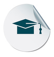 graduate hat Education sign vector image
