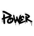 graffiti power word sprayed isolated on white vector image vector image
